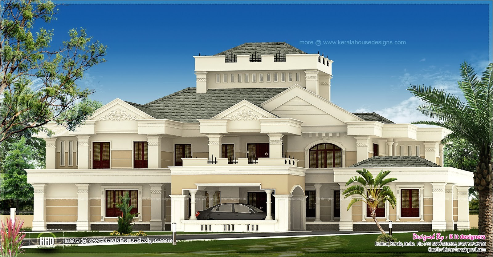 super luxury kerala house exterior