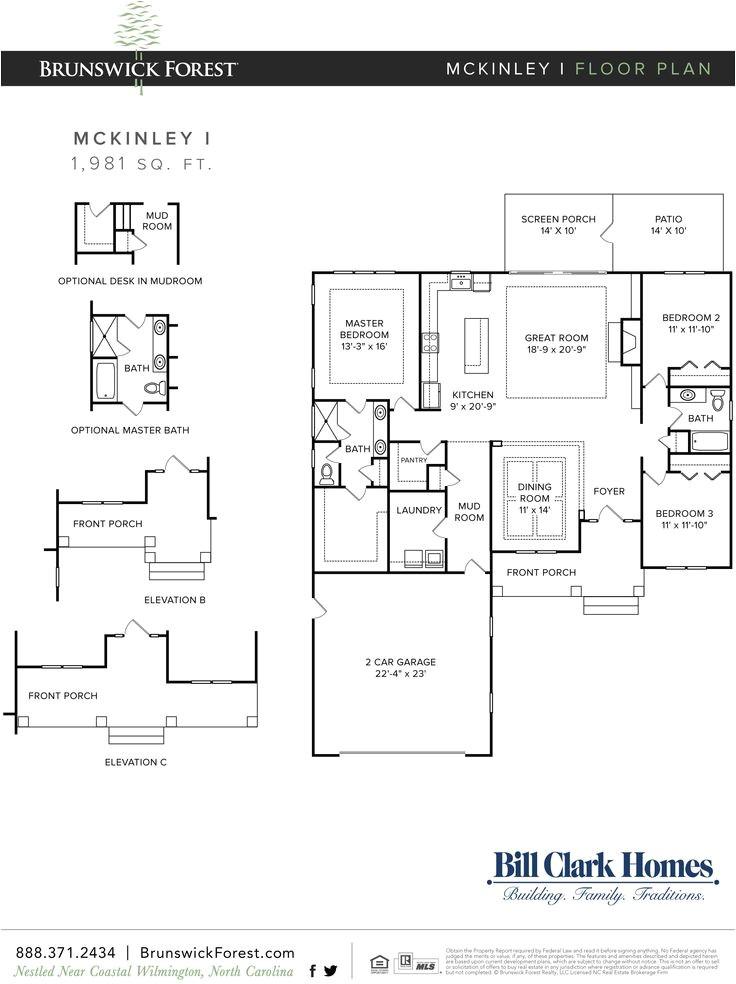 bill clark homes floor plans