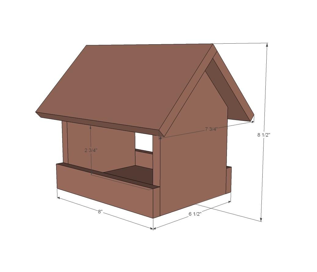 Bird House Feeder Plans Ana White Kids Kit Project 2 Cedar Birdfeeder Diy