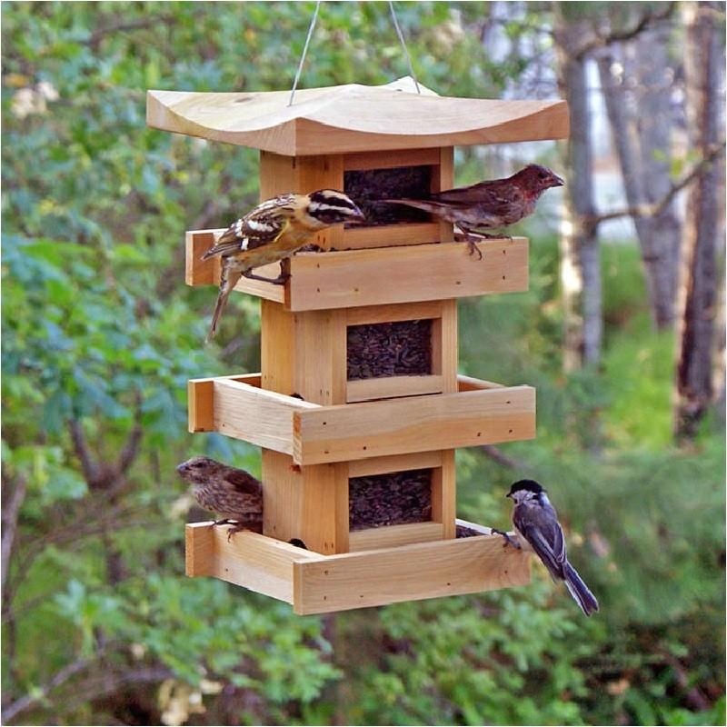 large capacity bird feeder plans