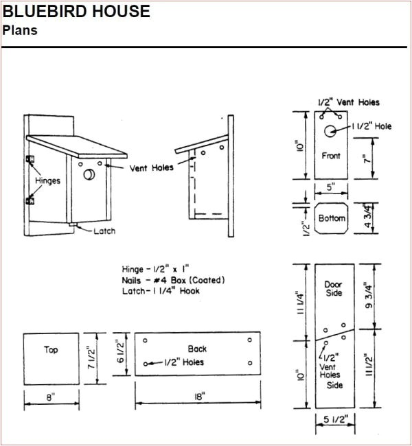 bluebird house plans ohio