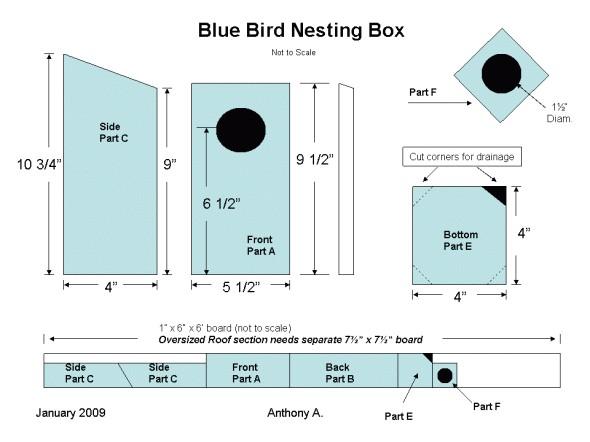m2zkm simple bluebird house plans
