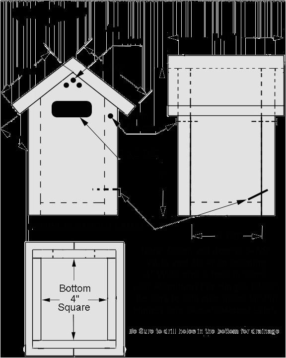 wren birdhouse plans