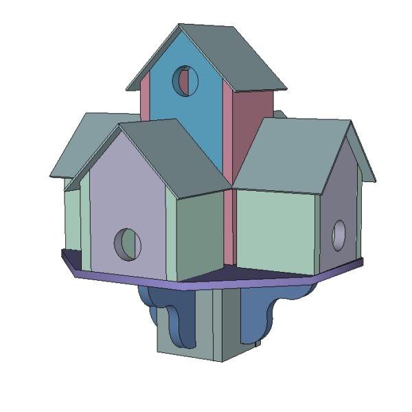 bird house hotel plan