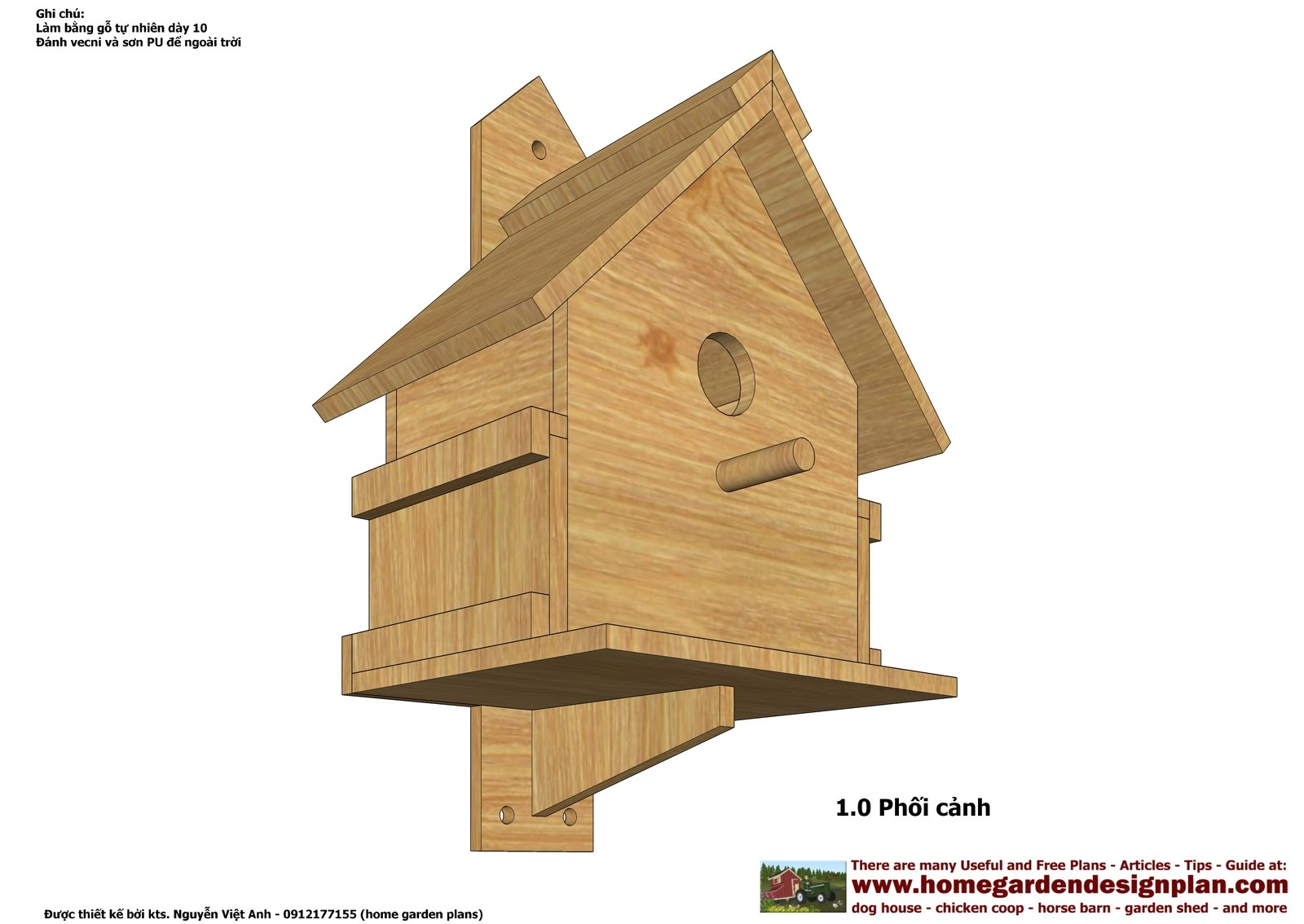 know more tall birdhouse plans