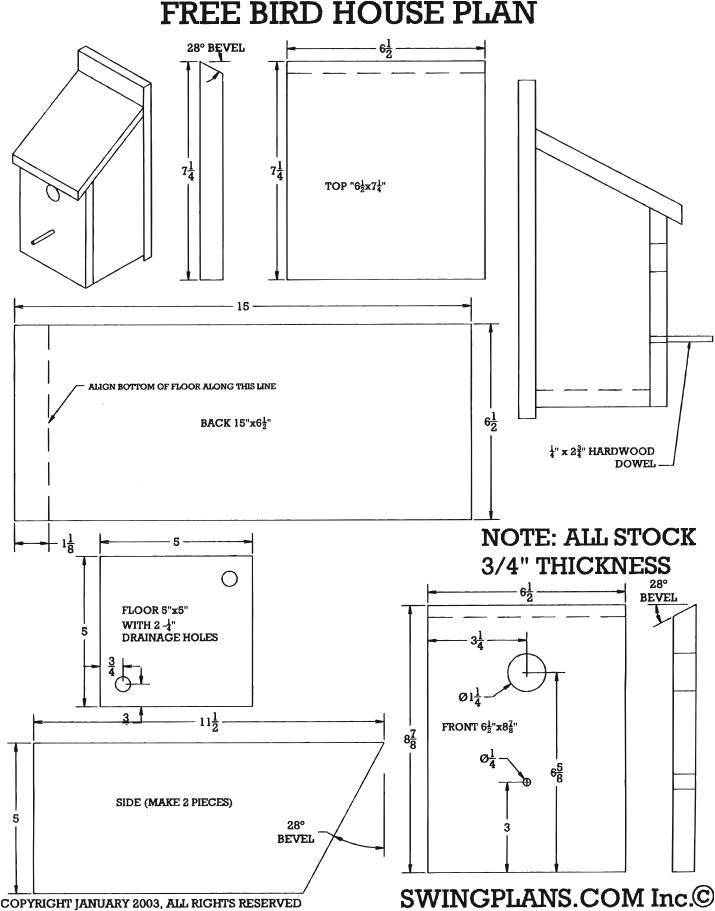 wood bird house plans pdf plans randkey