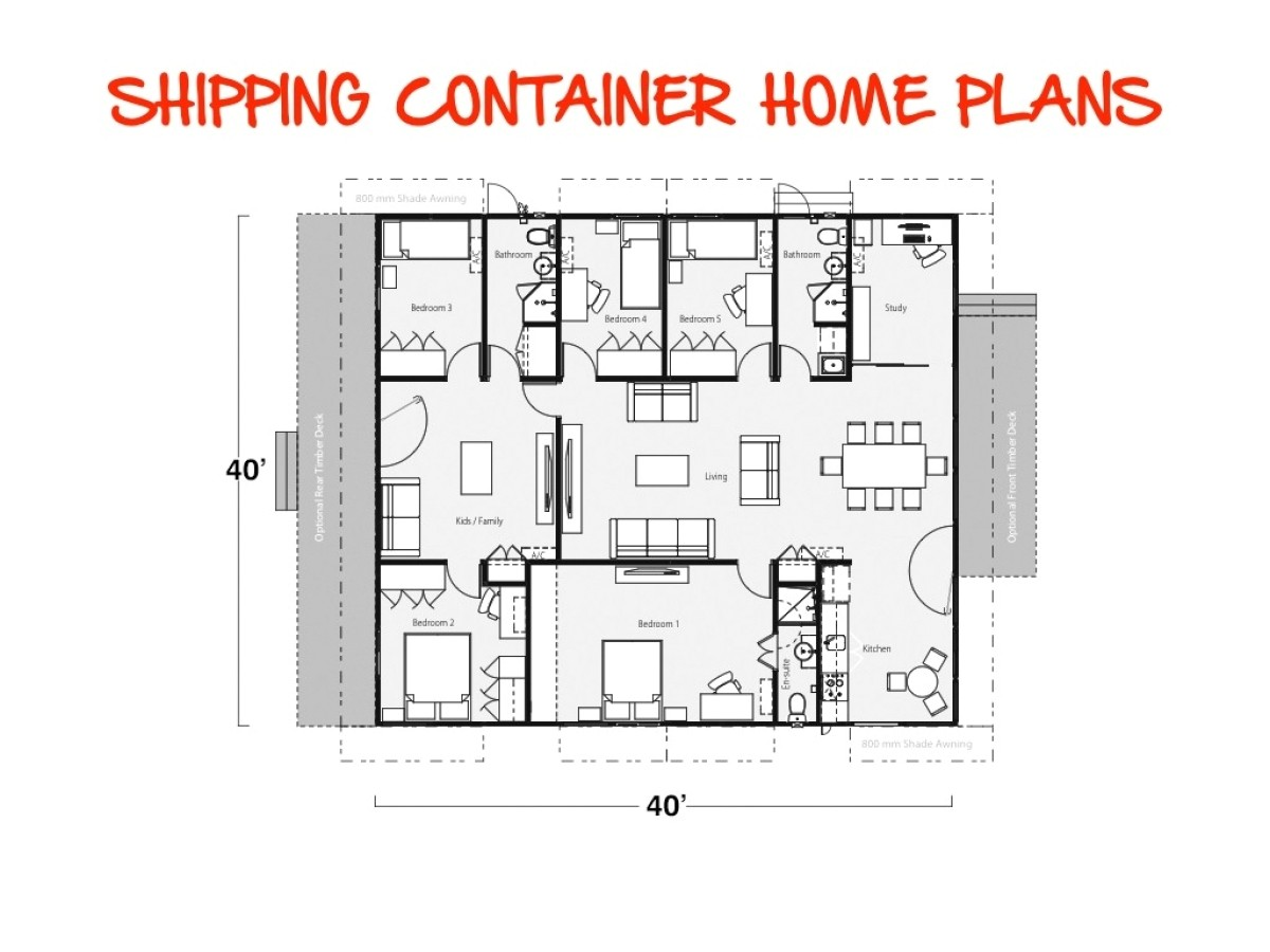 shipping containers house plans