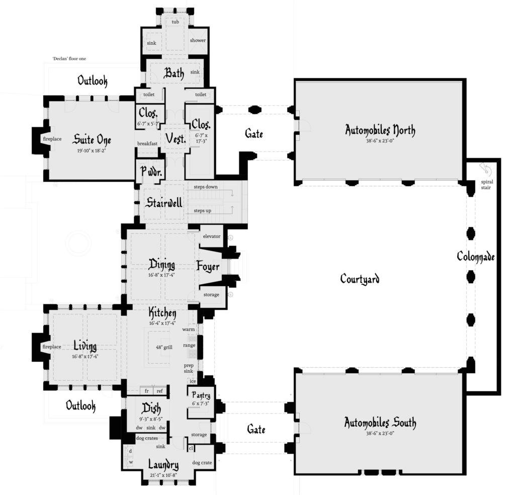 Castle Home Floor Plans Declan Castle Plan Tyree House Plans