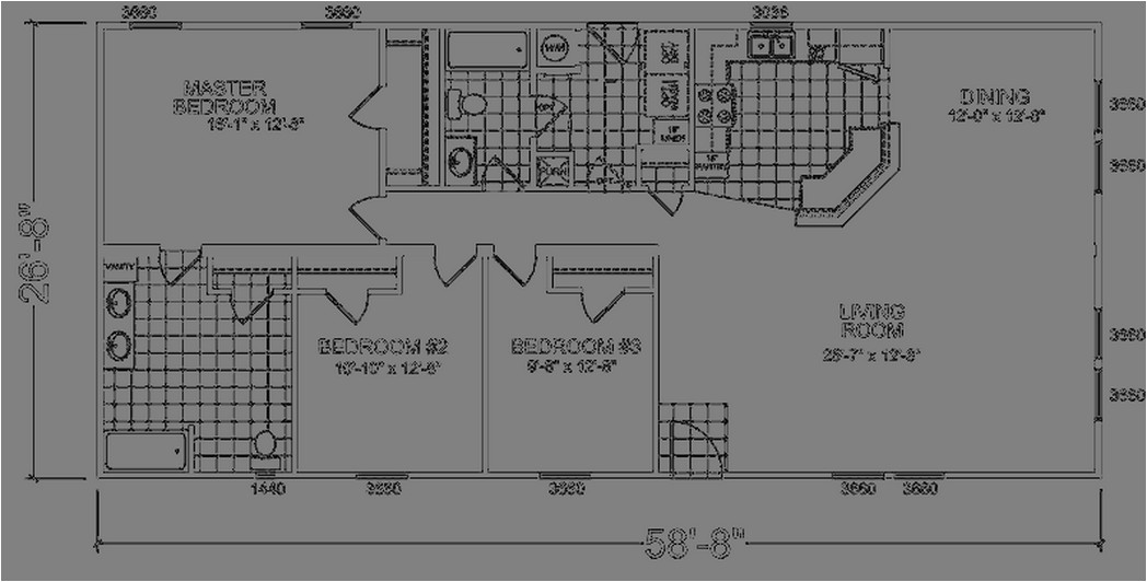 Champion Manufactured Home Floor Plans Champion Homes Single Wide Floor Plans
