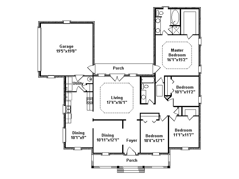 Cliffside Home Plans Cliffside Ranch Home Plan 024d 0313 House Plans and More