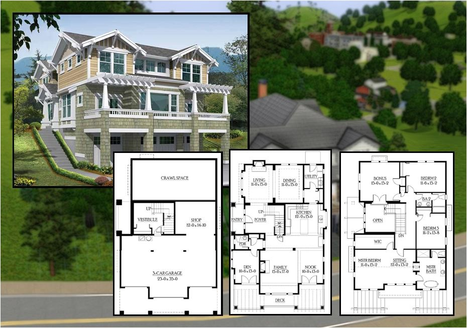 mod sims bedroom craftsman cliffside home 2