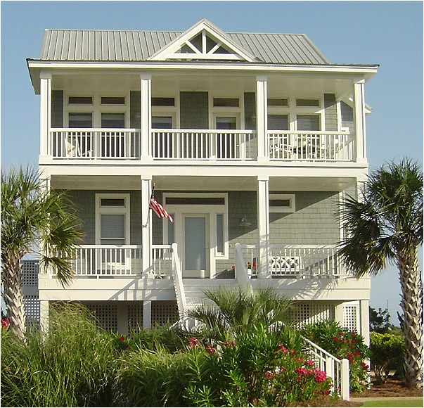porches cottage standard piling foundation with side entrance garage 4br 2176 sf