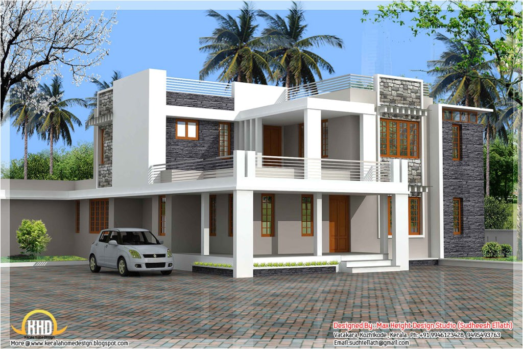 contemporary kerala villa design and plan photoage low cost contemporary house plans in kerala contemporary house floor plans in kerala