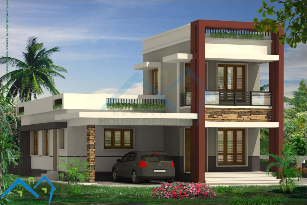 Contemporary Style Home Plans In Kerala Home Design Low Budget Modern Villas Elevations Home