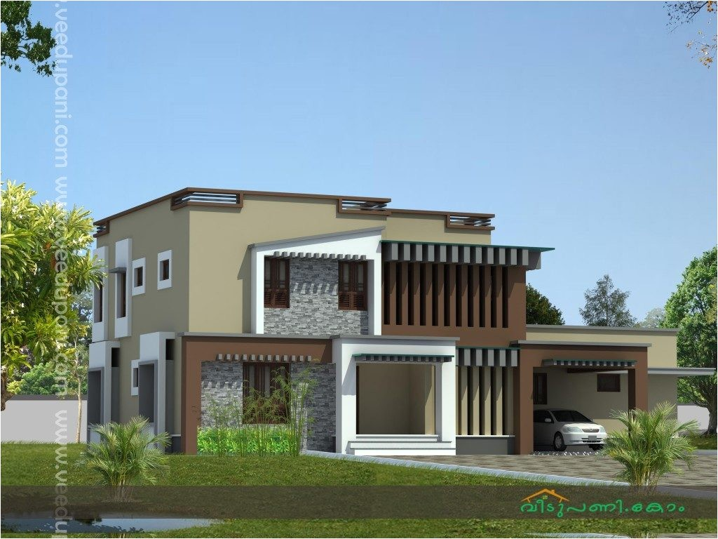 square feet modern style kerala house design with bedrooms contemporary house designs kerala style low cost contemporary house plans in kerala