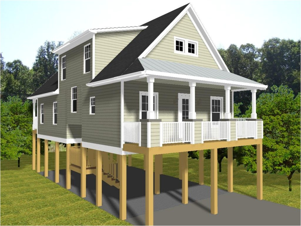 tiny house plans on pilings