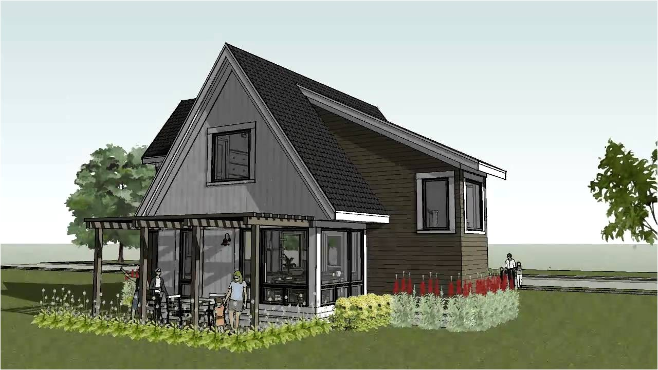 modern cottage house plans small