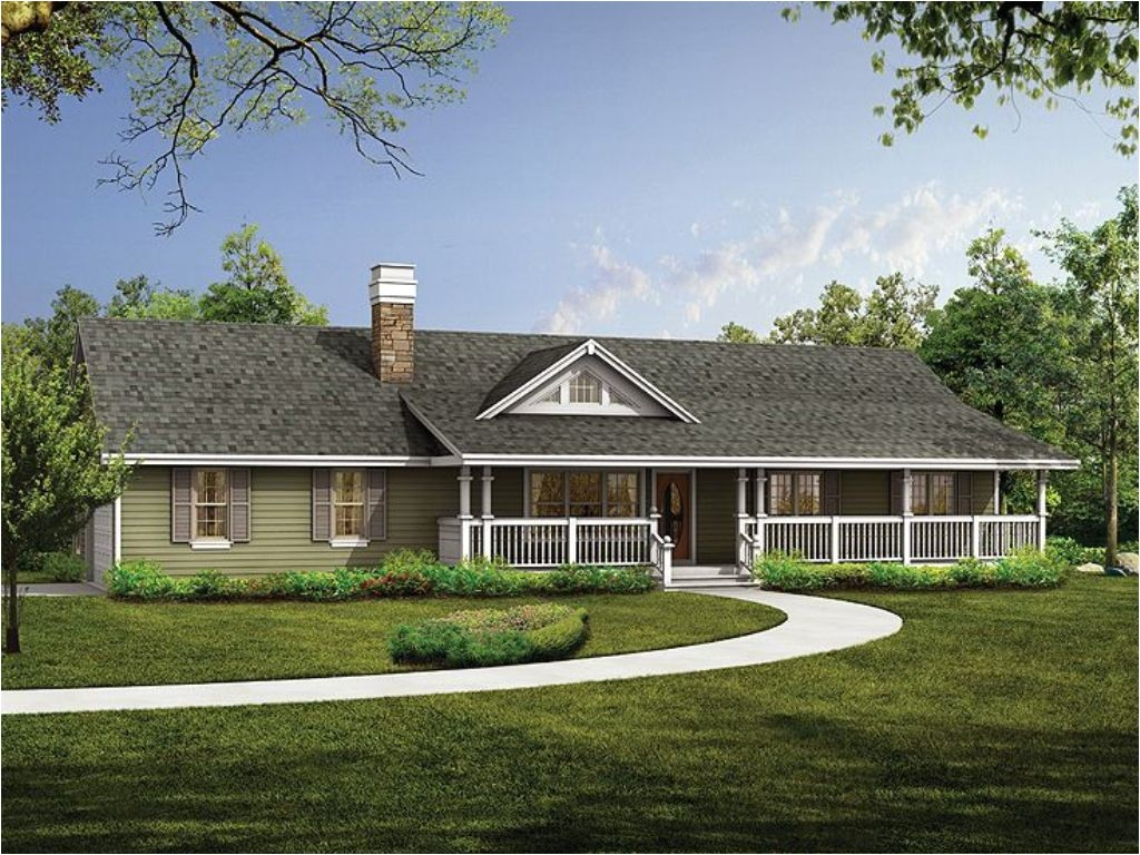 luxury country ranch house plan