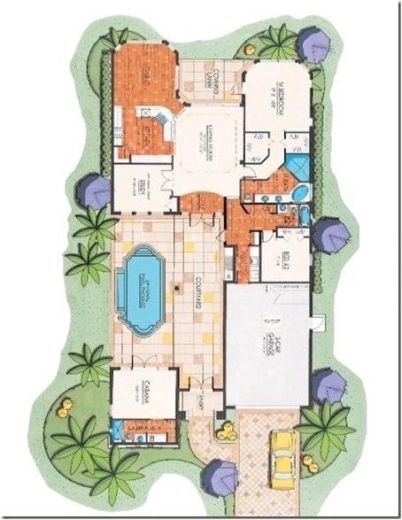 the courtyard home floor plan