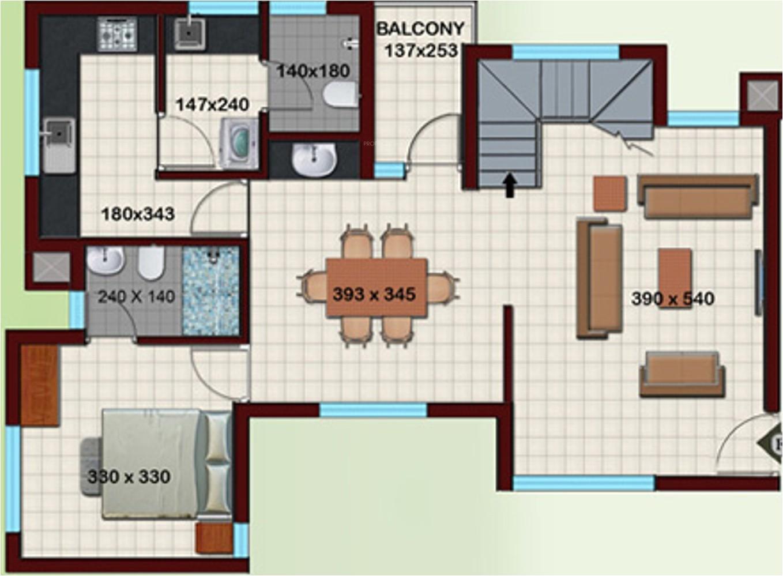 4bhk 5t 2308 sqft apartment