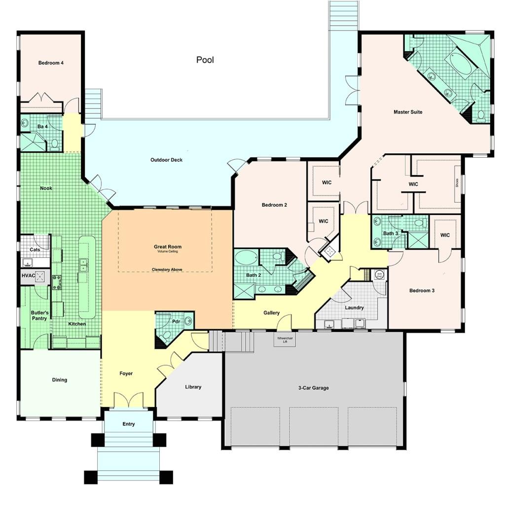 custom home portfolio floor plans