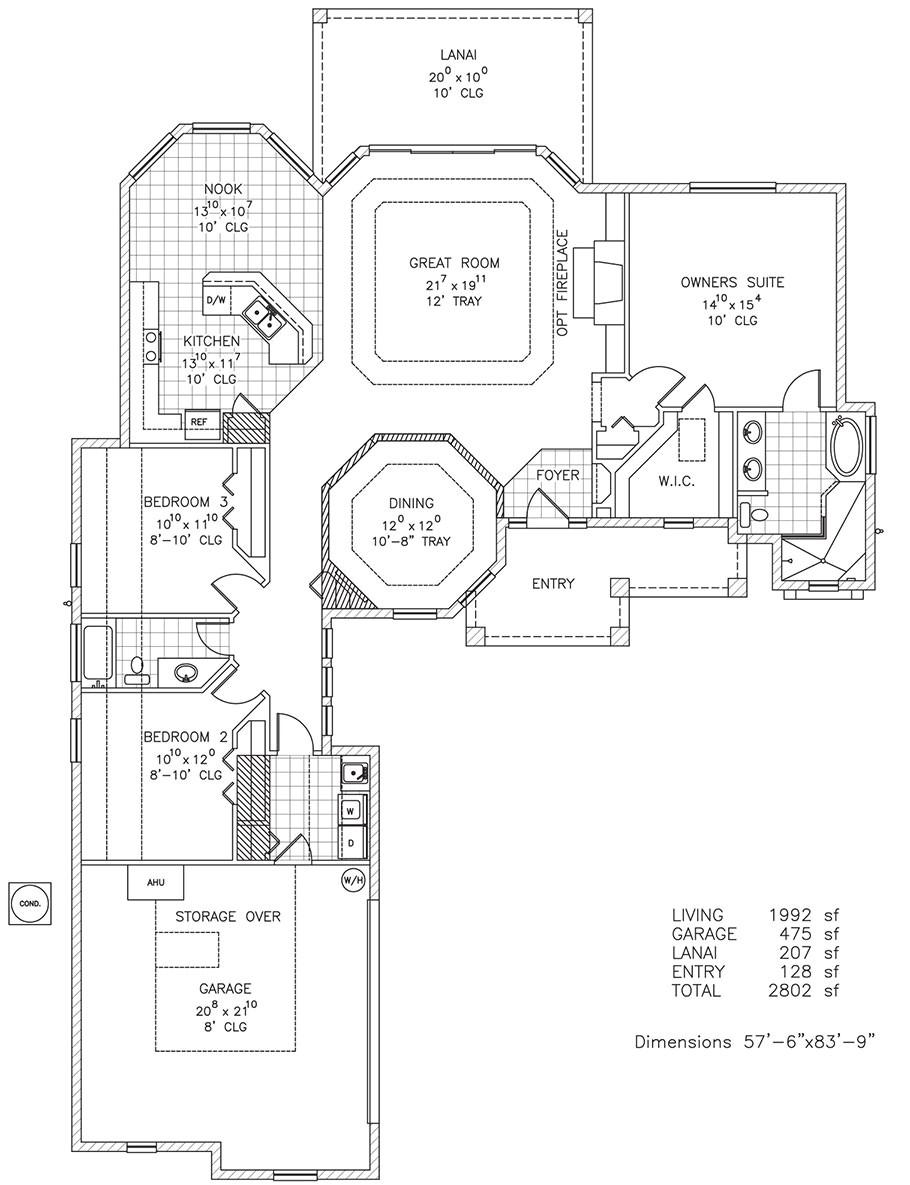 key west new home floor plan