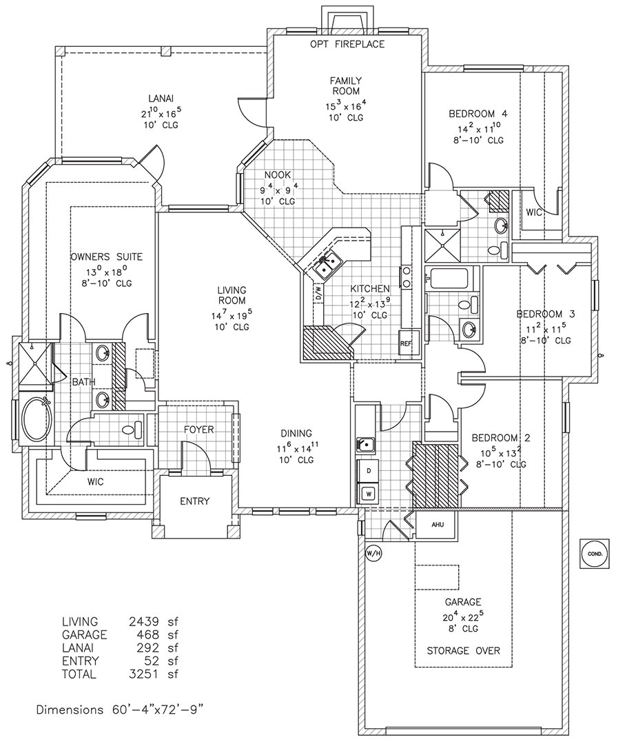 Custom Home Floor Plans Florida Vanderbilt Iii Custom Home Floor Plan Palm Coast Fl