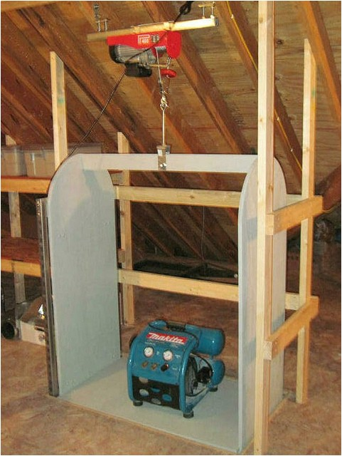 lovely attic elevator 8 homemade attic lift