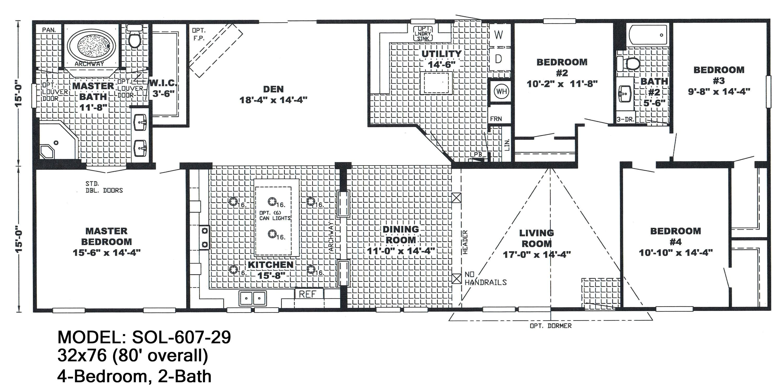 double wide floor plans 4 bedroom 3 bath