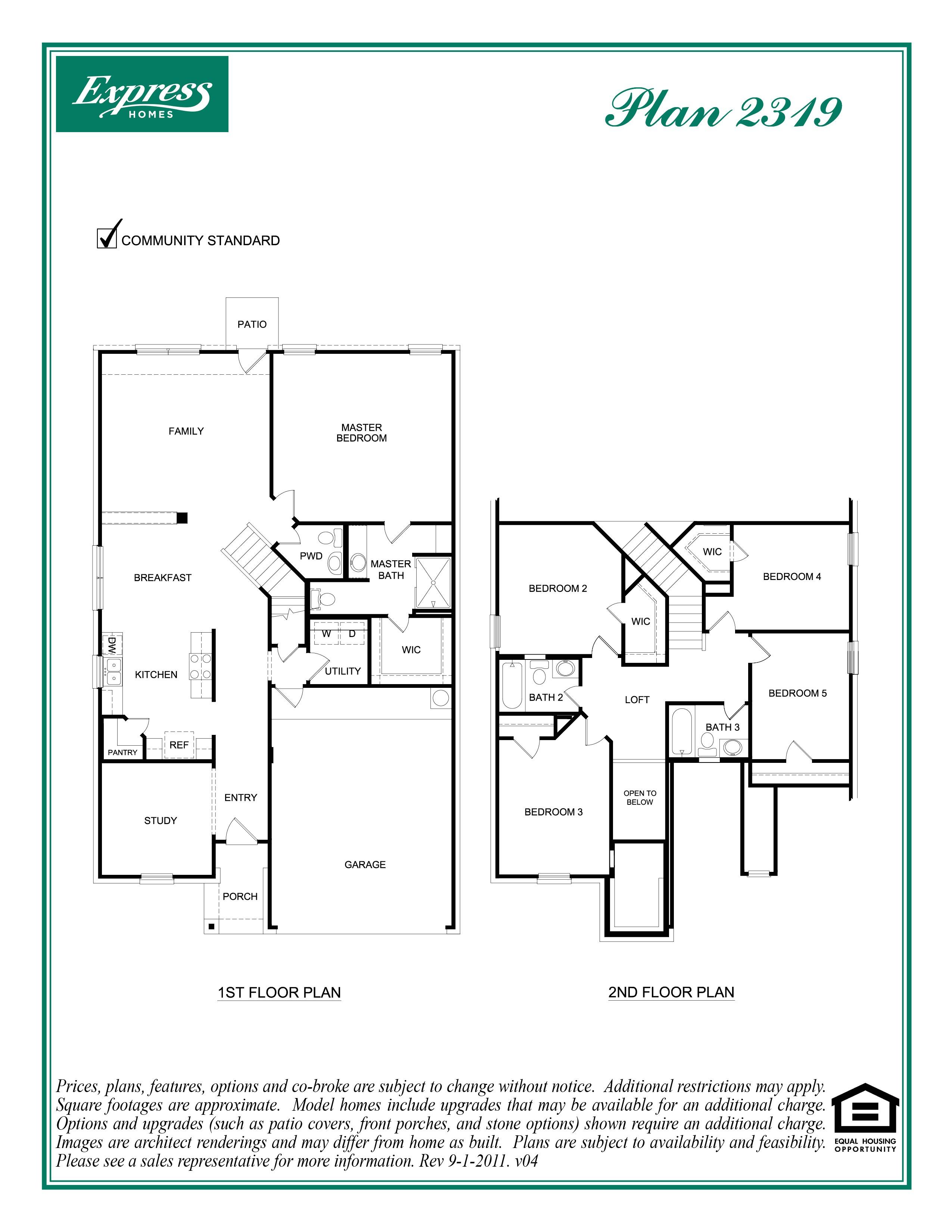 dr horton homes floor plans