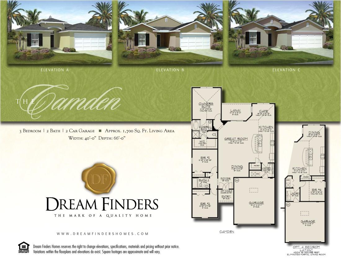 dream finders floor plans
