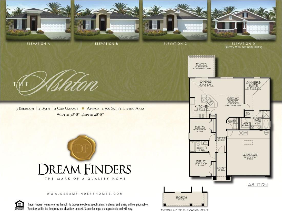 dream finders homes floor plans