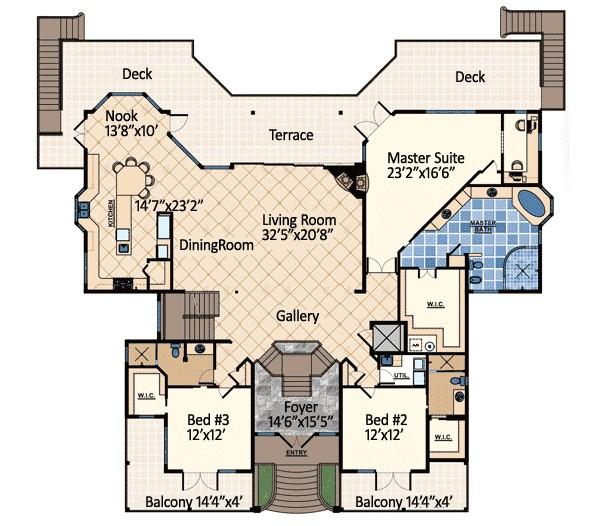 ocean dream house plan 31809dn