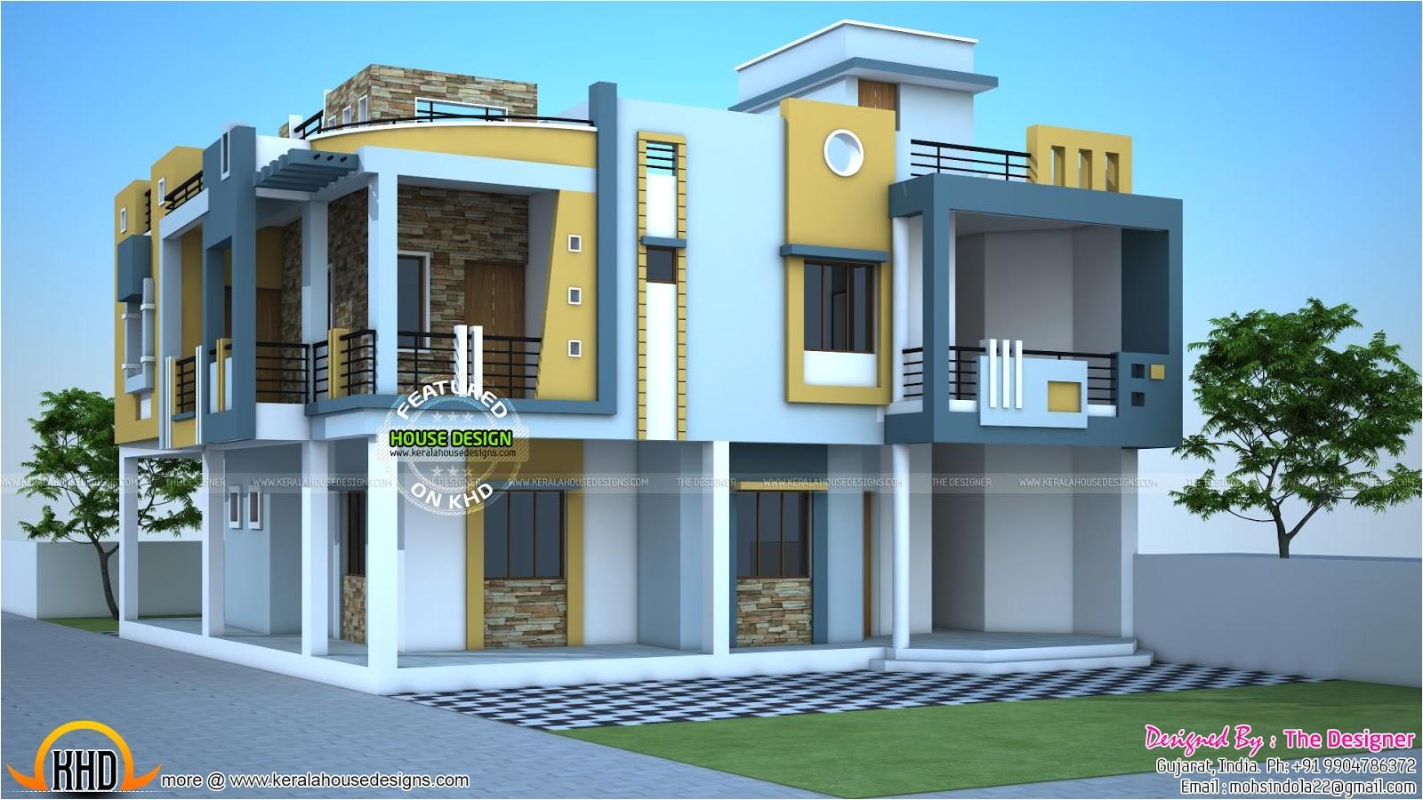 modern duplex house in india