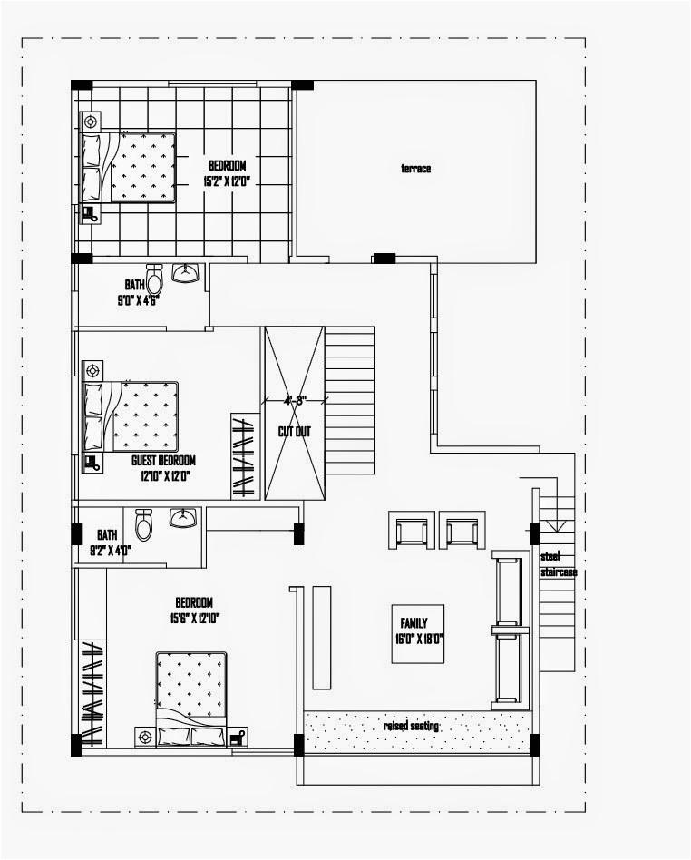 luxurious duplex house plan 40x50