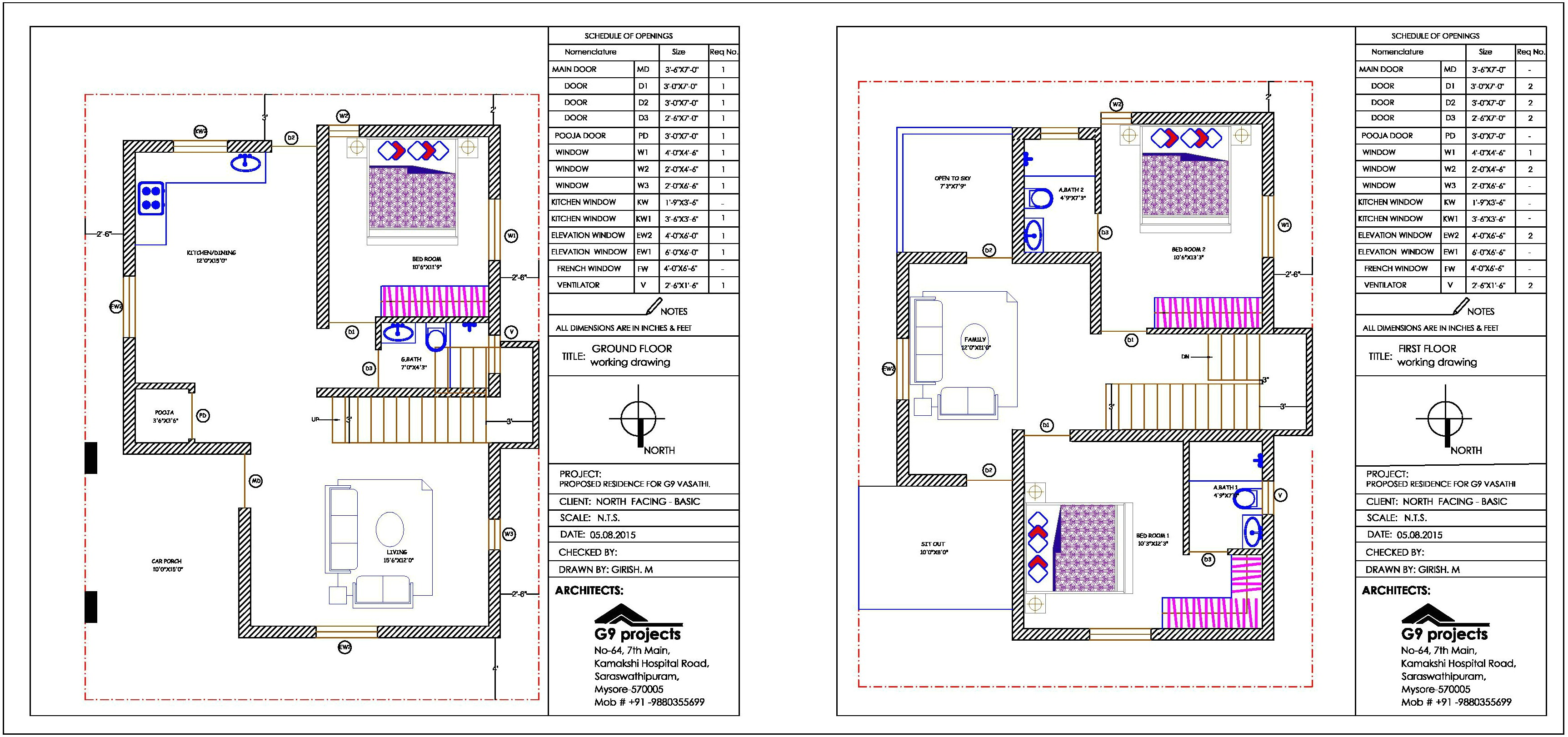 house plan for duplex in 30 40