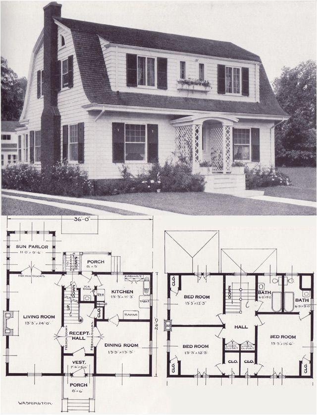 Dutch Colonial Home Plans 1920s Vintage Home Plans Dutch Colonial Revival the