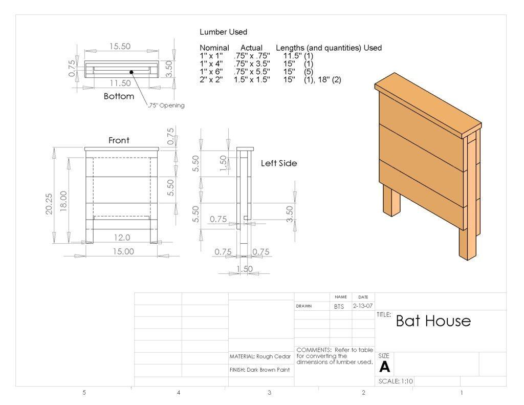 simple bat house plans