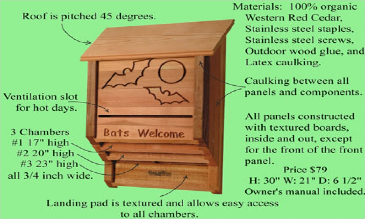 4a6447f12d55e443 small bat house plans bat house plans