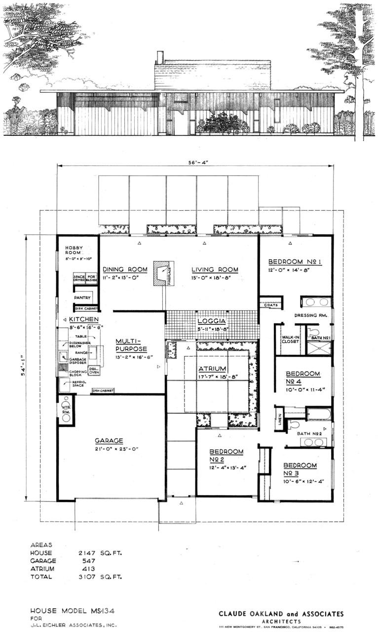 eichler home plans