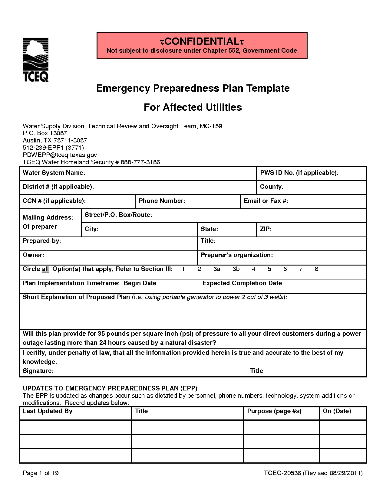 post emergency preparedness plan sample 295882