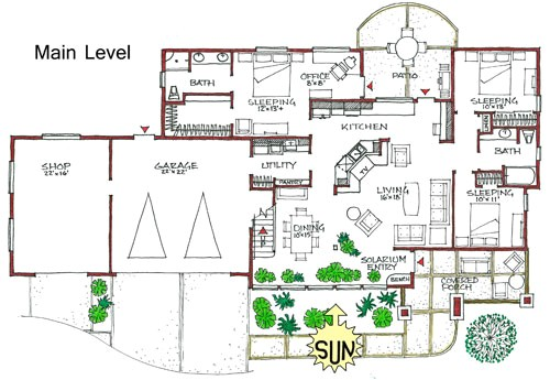 floor plan energy efficient house