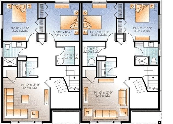 modern multi family house plans