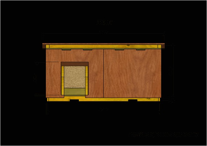 flat roof dog house plans free
