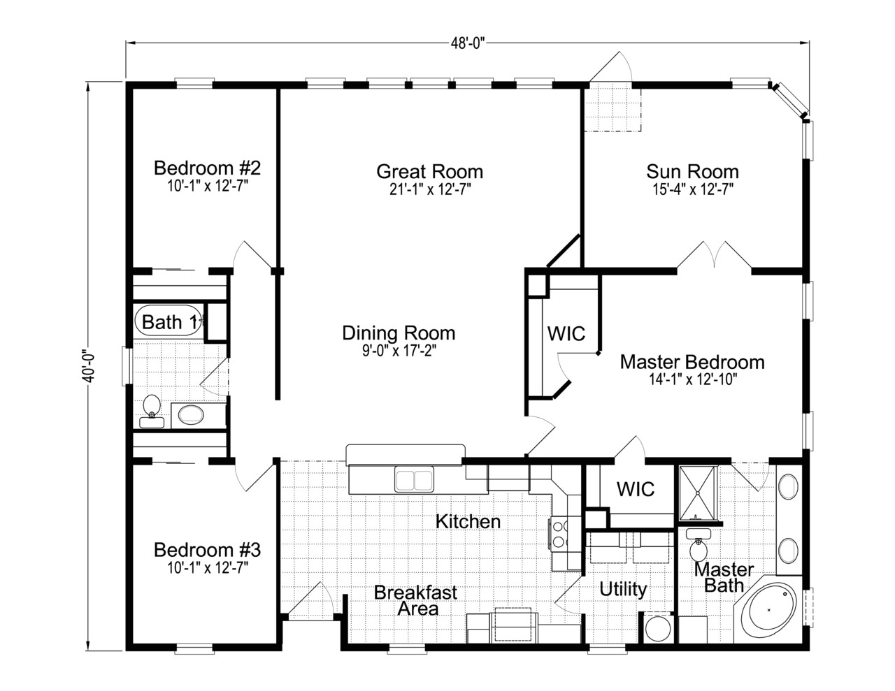 Floor Plan for Homes Wellington 40483a Manufactured Home Floor Plan or Modular
