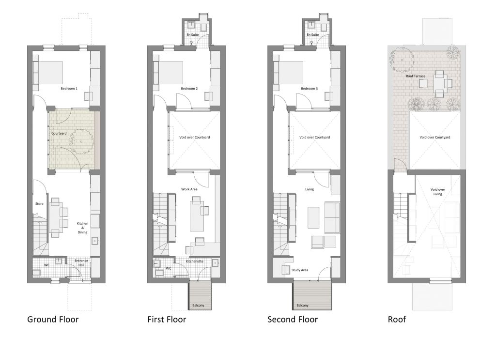 row home floor plan