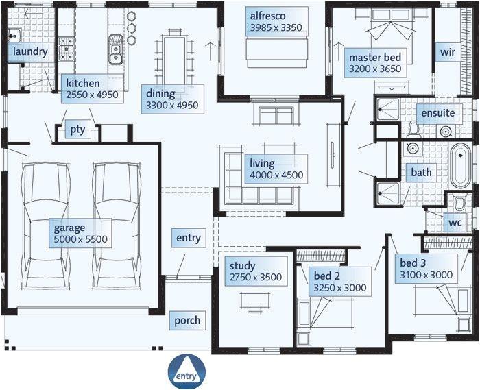 single storey house floor plan design