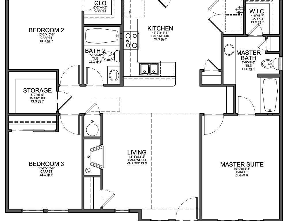 Floor Plans for 3 Bedroom Homes Three Bedroom Floor Plans Photos and Video