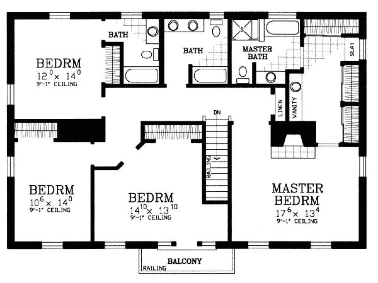 4 bedroom house floor plans free
