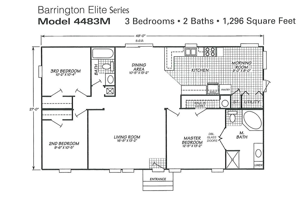triple wide mobile home floor plans